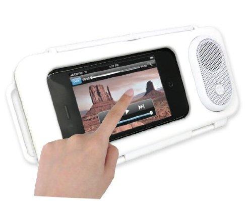 Digital Gadgets DGNOVWRSC-W Waterproof Phonepad Speaker Case - Retail Packaging - White