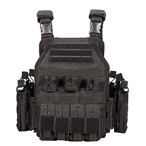 LAKA Tactical Vest YAKEDA PHANTOM Modular Quick Release Plate Carrier Protective Vest Extended Gear Vest for Outdoor CS Training Airsoft Paintball Game