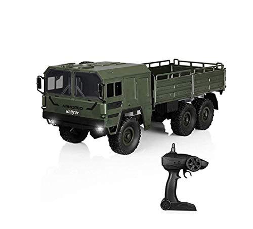 Camion Militare con 6WD in Scala 1:16 Telecomandato Military Truck Distanza telecomandata da 40 Metri Militare Truck off-Road Monster Veicolo per Bambini ed Adulti,Green