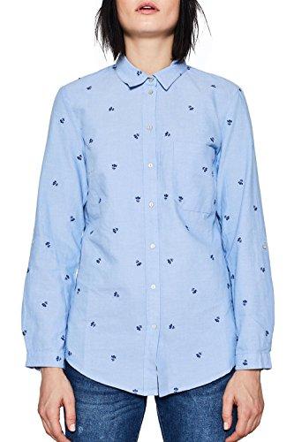 ESPRIT Damen 018EE1F009 Bluse, Blau (Light Blue 440), 34