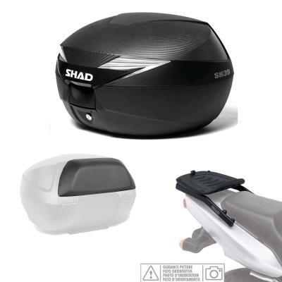 Kit-shad-1207 - kit fijacion y maleta baul trasero + carbono + respaldo pasajero regalo sh39 compatible con suzuki gsr 600 2005-2011