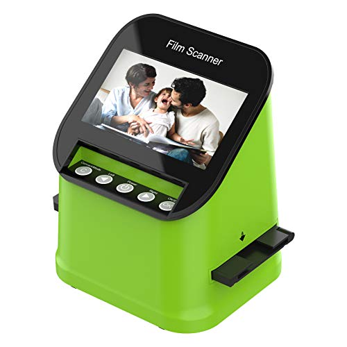 Escáner de Diapositivas y Negativos con 4.3' LCD TFT, para Super-8, 35 mm, 110 mm y 126 mm Negativos y Diapositivas, Digitalizador de Alta resolución de 22MP, No se Requiere PC y Software