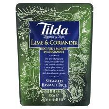 Tilda Lime Coriander Basmati Rice 5% OFF Department store 250G