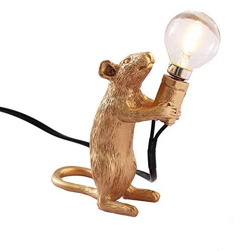 NorDiem Modern Cute LED Resin Animal Rat Desk Lights Art Mouse Children's Bedside Gift Table Lamp...