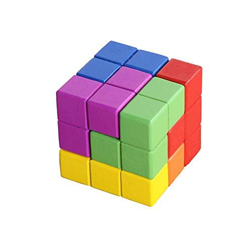 YZH Juguete de Cubos de Rubik/Bloques de construcción rusos/Uso de Cubos interactivos Padres e Hijos Ayudas de enseñanza Cuadrados Grandes Cerebros y Cerebros de niños