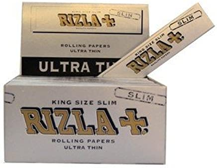 Rizla 15 Booklets Silver King Size Slim Rolling Papers