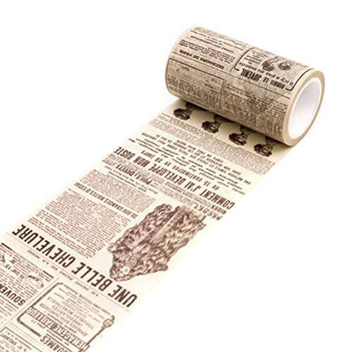 uyhghjhb Vintage Washi Tape Cinta Adhesiva de Papel Decorativa Scrapbooking y Bricolaje Craft Adhesive Stickers Periódico Inglés