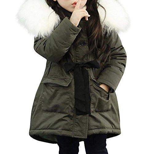 Giacca Bambino Invernali con Cappuccio di Pelliccia,Homebaby Giacca del Mantello del Cappotto di Inverno della Neonata Giubbotto Vestiti Caldi Spessi Felpa Maniche Lunghe