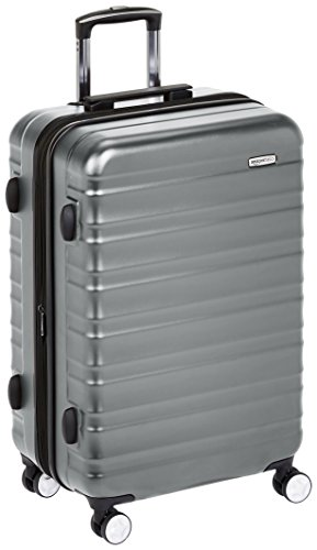AmazonBasics Premium Hardside Spinner Luggage with Built-In TSA Lock - 68 cm, Grey