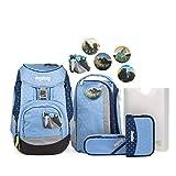 Ergobag Pack, HimmelreitBär, ergonomischer Schulrucksack, Set 6-teilig, 20 Liter, 1.100 g,