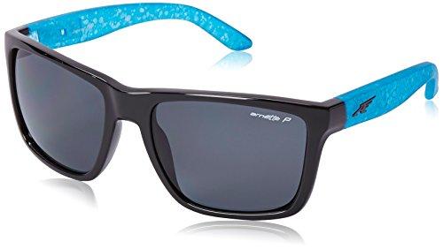 ARNETTE 0AN4177 216281 59 gafas de sol, negro brillante y aguamarina, Unisex-Adulto