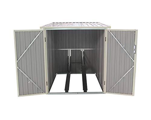 GARDIUN KIS12968 - Caseta Metálica para Bicicleta Veloc I (X2) 2.81 m² Exterior 198 x 142 x 157 cm