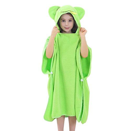 MICHLEY capuchon babydeken handdoek kinderen poncho 70x70cm katoen badhanddoeken voor 2-6 jaar