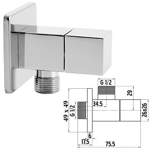 Eckiges Eckventil Auslaufventil Anschlussventil 1/2x1/2 Zoll Wasserhahn Armaturen