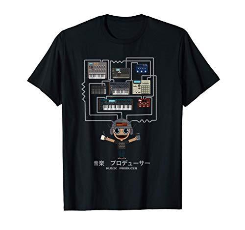 Produttore di Musica Beatmaker Musicista con Sintetizzatore Maglietta