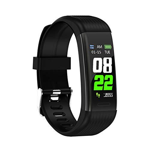 CUHAWUDBA R1 Fitness Armband Pulsmesser Schrittz?Hler Smart Armband Blutdruck Fitness Tracker Smart Watch M?Nner Frauen Wasserdicht Schwarz