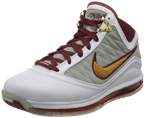 Nike Herren Lebron VII Basketballschuh, White Bronze Team Red Wolf Grey, 41 EU