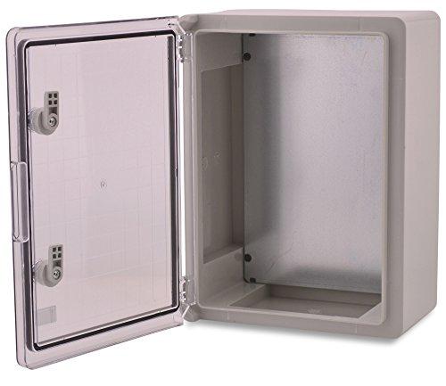 Preisvergleich Produktbild BOXEXPERT ABS Kunststoff Gehäuse Fleet Schaltschrank IP65 grau / transparent (ABS,  400x300x170 mit Sichttür)