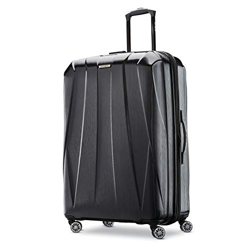 Samsonite Centric 2 Hardside Expandable Luggage with Spinner Wheels, Black, Checked-Large 28-Inch