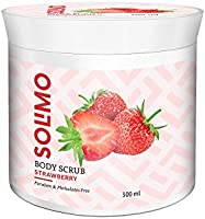 Amazon Brand - Solimo Body Scrub, Strawberry, 300gms