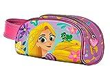 Raiponce Grande Trousse scolaire 3D enfant fille Disney Princesse (Rapunzel) Rose/violet 20x11x6cm