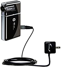 Gomadic High Output Home Wall AC Charger Designed for The Panasonic HDC-TM90 Camcorder with Power Sleep Technology Intelligently Designed with Gomadic TipExchange