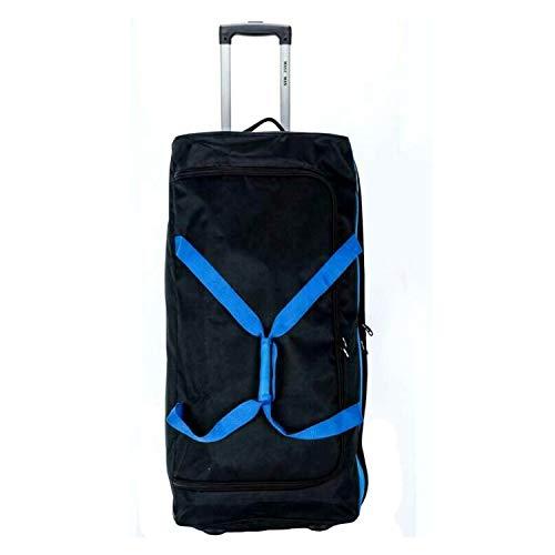 XXX 40'' Travel Luggage Wheeled Trolley Holdall Suitcase Case Duffel Bag (Black/Blue, 40)