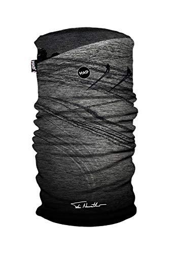 Had Printed Fleece Tube-Powderday Grey by Felix Neureuther, Fascia Multiuso. Unisex-Adulto, Taglia Unica