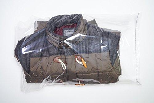 100 Polybags für Textilien FB6: 510 x 760 mm weiche, Polybeutel, FBA Amazon geeignet, mit mehrsprachigen Warnhinweisen und Entlüftungslöchern, selbstklebend und wiederverschließbarer Klappenbeutel