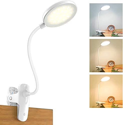 Lámpara de lectura con pinza para libro, 20 ledes, 2800 mAh, USB,...