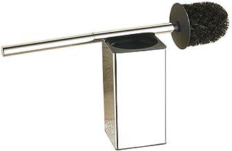 Makkelijk te gebruiken 304 roestvrijstalen toiletborstel Zwarte badkamer reinigingsborstelhouder met wc-borstel wandbevest...
