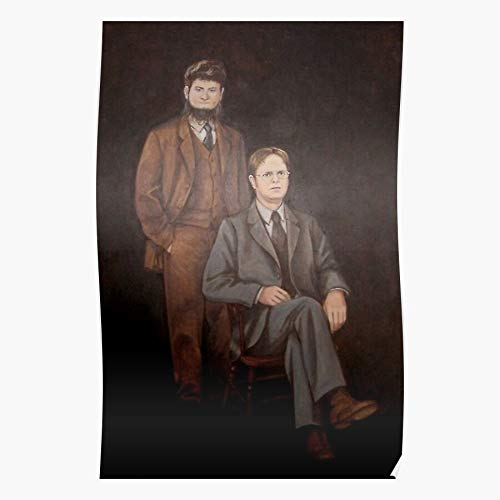Curlycat Dwight and Painting Poster Mose Impressive and Trendy Poster Print Decor Wall or Desk Mount Options