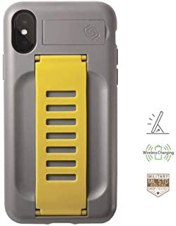 Grip2u iPhone Xs MAX BOOST With Kickstand Antidrop Case Cover (Yellow)