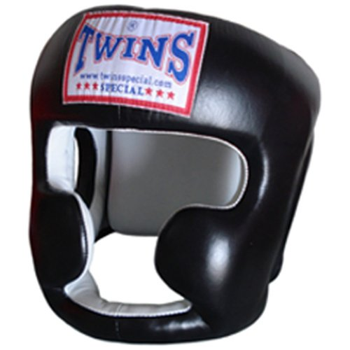 Twins Special Leather Boxing Head Guard Helmet Protector black-blue-red-m-l taglia