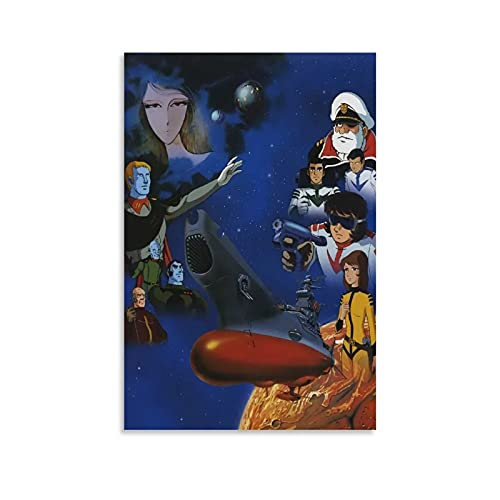 XINGYAN Posters for Boys Room Anime Poster Space Battleship Yamato Poster Star Blazers Poster Poster Decorative Painting Canvas Wall Art Living Room Posters Bedroom Painting 08x12inch(20x30cm)