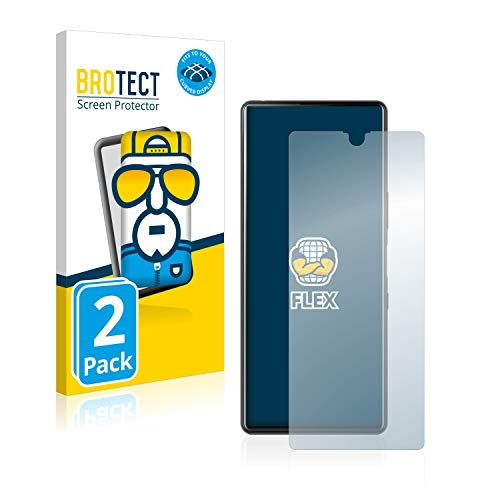 BROTECT Full-Cover Schutzfolie kompatibel mit Sony Xperia L4 (2 Stück) - Full-Screen Bildschirmschutz-Folie, 3D Curved, Kristall-Klar