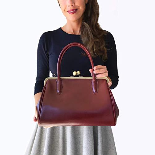 Leder Handtasche/Bügeltasche
