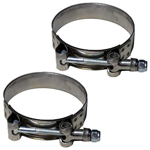 Abrazadera de manguera de acero inoxidable con perno en T, resistente, ajustable, para manguera de 72 – 80 mm