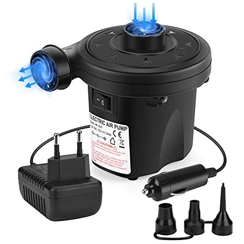 Awroutdoor Elektrische Luftpumpe Luftmatratze Elektropumpe 2 in 1 Inflate und Deflate für Bett Pools Boote Floß Luftmatratzen aufblasbares Spielzeug