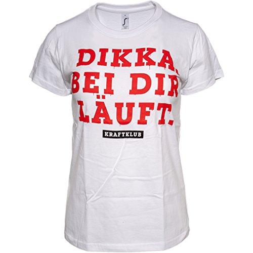 Kraftklub Dikka Ladyshirt Weiss L