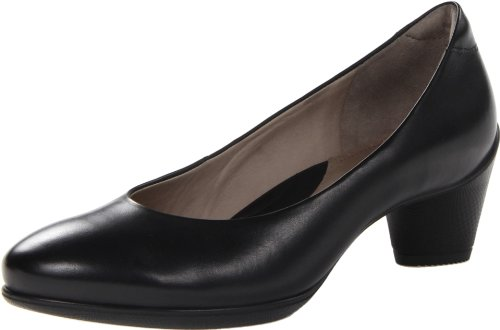 ECCO Women's Sculptured 45 Plain Dress Pump,Black,37 EU/6-6.5 M US