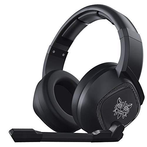 YHLZ Casque de Jeu, 3,5 mm Wired Gaming Headset Plus de Casque Ear Noise Cancelling E-Sport écouteurs avec Micro LED Lights Volume Control Mute Mic for PC Portable PS4 Smart Phone