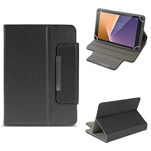 NAUC Tablet Tasche für Vodafone Smart Tab N8 Hülle Schutzhülle Hülle Schutz Cover Stand, Farben:Schwarz