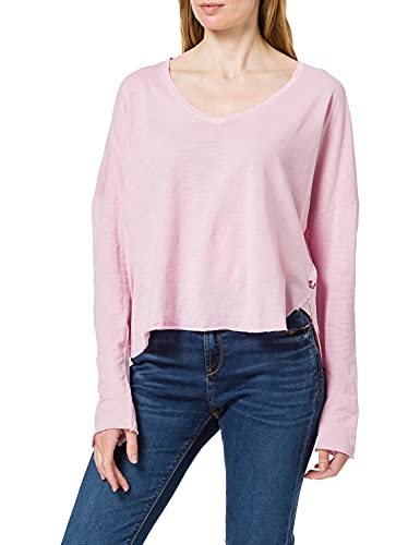 True Religion Vneck Boxy LS T-Shirt, Lilla, M Donna