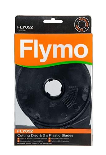 Flymo FLY052 - Juego de cuchillas de plástico y disco para cortacésped