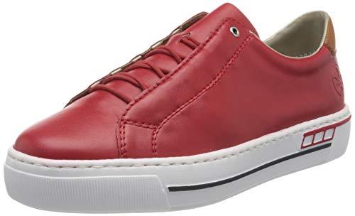 Rieker Damen Frühjahr/Sommer L8834 Slip On Sneaker, Rot (Rosso/Cayenne/ 33 33), 39 EU