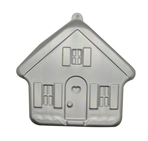 DeColorDulce Maison Moule, Aluminium anodisé, Argent, 20 x 18 x 7 cm
