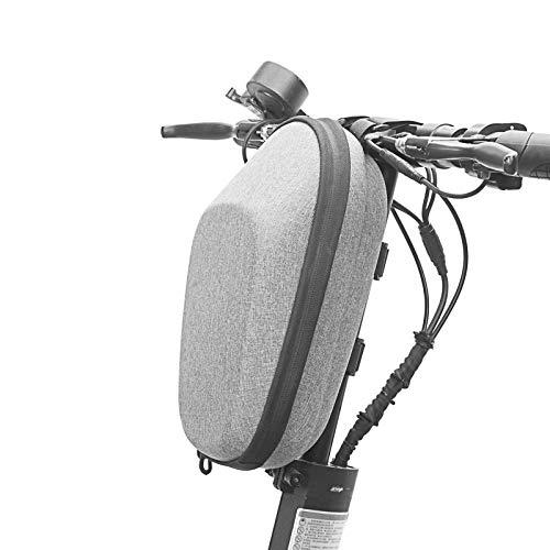 Zeroall Bolsa Scooter Eléctrico Bolsa Manillar Patinete Eléctrico Impermeable 3L Gran Capacidad Bolsa de Almacenamiento para Scooter Xiaomi M365 Segway Ninebot(Gris)