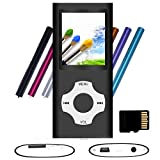 Tomameri - Portable MP3 / MP4 Player with Rhombic Button, Including a 16 GB Micro SD Card and Support Up to 64GB, (Black)