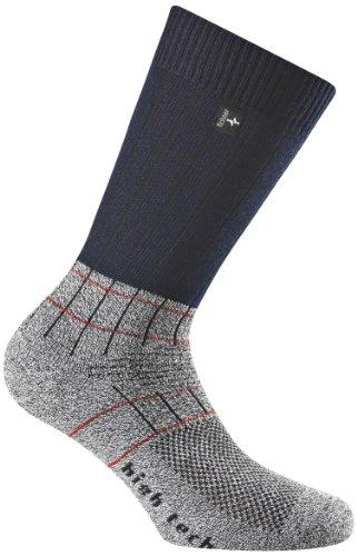 Rohner Socken Fibre High Tech Chaussettes de randonnée Gris Small Bleu - Bleu Roi